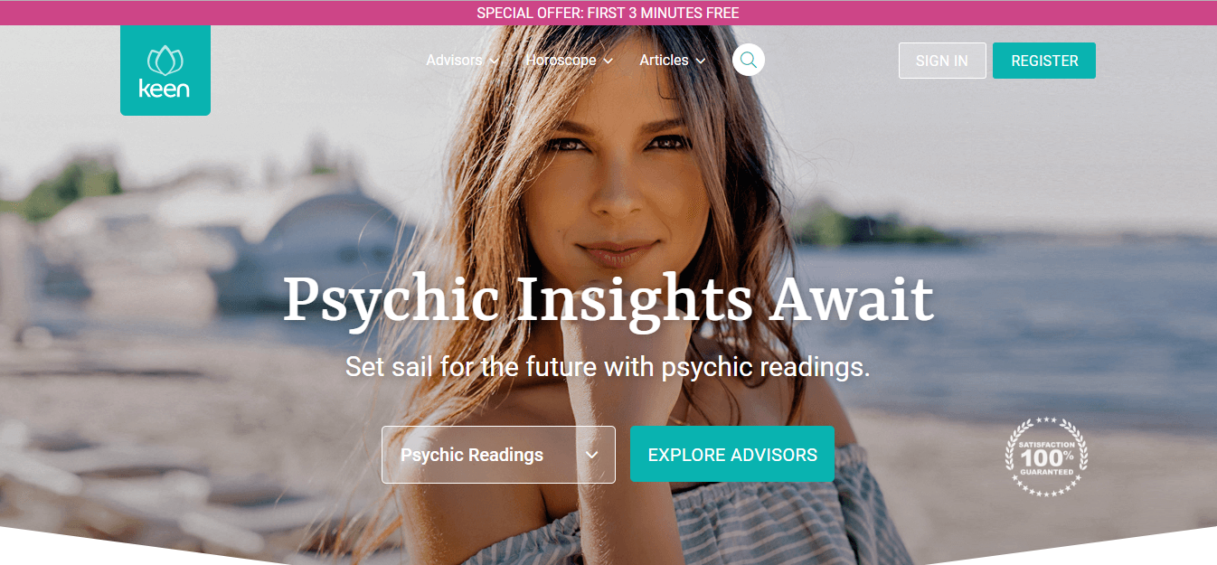 Keen Psychic website
